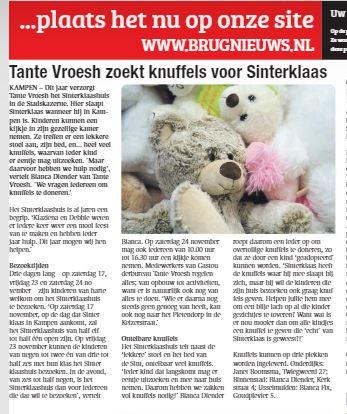 Persbericht: Tante Vroesh zoekt knuffels voor Sinterklaas